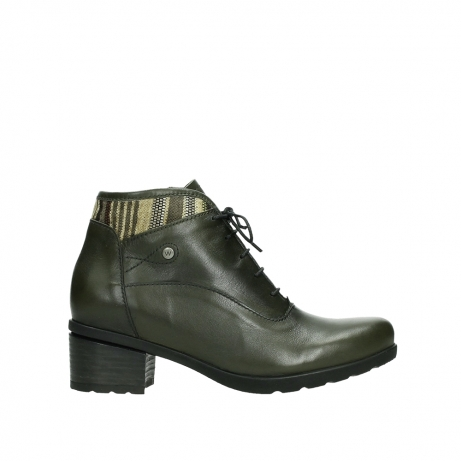 wolky ankle boots 07500 canton 29730 forestgreen leather
