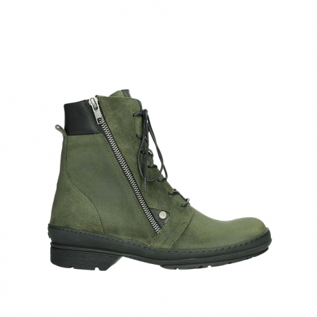 wolky ankle boots 07640 partizan 45730 forestgreen suede