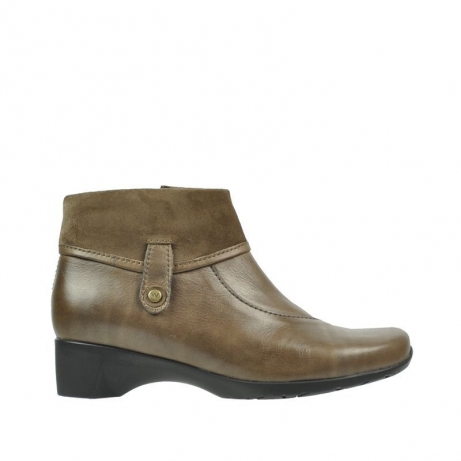 wolky ankle boots 07818 glass 20150 taupe leather