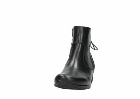 wolky ankle boots 07822 beryl 20000 black leather_20