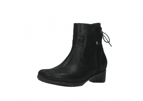 wolky ankle boots 07822 beryl 71000 black leather_22