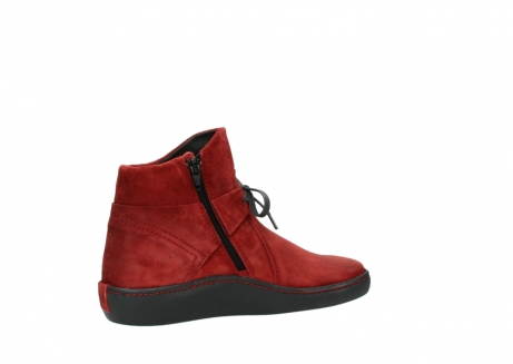 wolky ankle boots 08127 pharos 40501 dark red suede_11