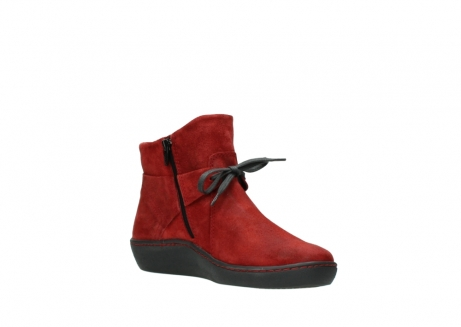 wolky ankle boots 08127 pharos 40501 dark red suede_16