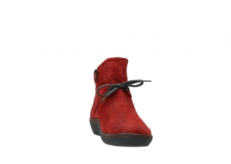 wolky ankle boots 08127 pharos 40501 dark red suede_18