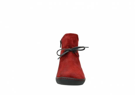 wolky ankle boots 08127 pharos 40501 dark red suede_19