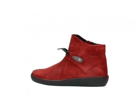 wolky ankle boots 08127 pharos 40501 dark red suede_2