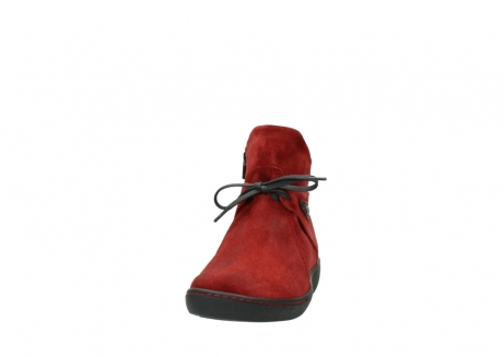 wolky ankle boots 08127 pharos 40501 dark red suede_20