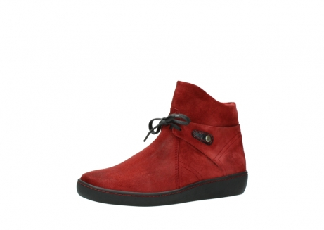 wolky ankle boots 08127 pharos 40501 dark red suede_23