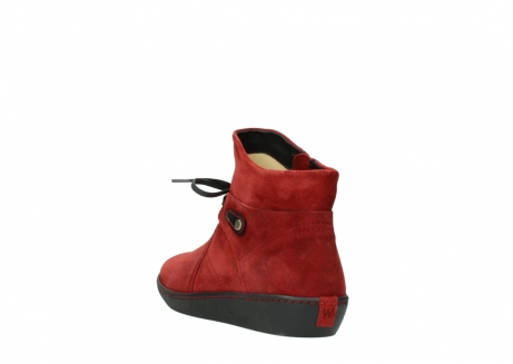wolky ankle boots 08127 pharos 40501 dark red suede_5