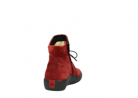 wolky ankle boots 08127 pharos 40501 dark red suede_8
