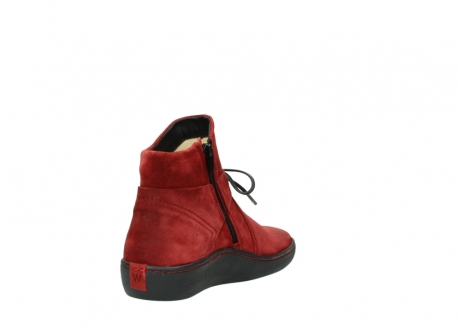 wolky ankle boots 08127 pharos 40501 dark red suede_9