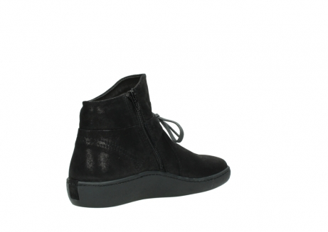 wolky ankle boots 08127 pharos 60001 black metallic leather_10