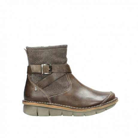 wolky stiefeletten 08392 wales 50150 taupe geoltes leder