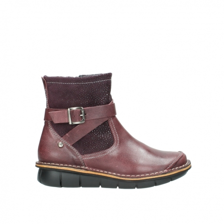 wolky bottines 08392 wales 50510 cuir bordeaux