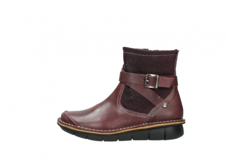 wolky ankle boots 08392 wales 50510 burgundy oiled leather_1