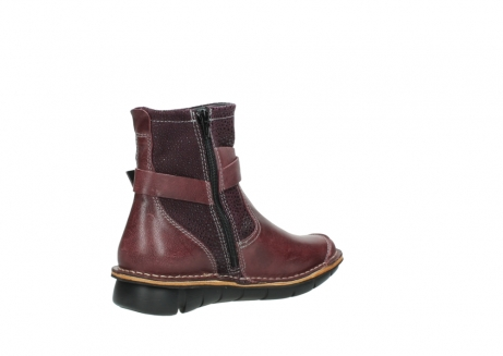 wolky ankle boots 08392 wales 50510 burgundy oiled leather_10