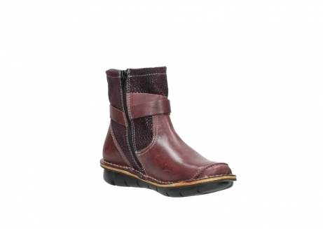 wolky ankle boots 08392 wales 50510 burgundy oiled leather_16