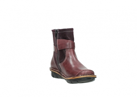 wolky ankle boots 08392 wales 50510 burgundy oiled leather_17