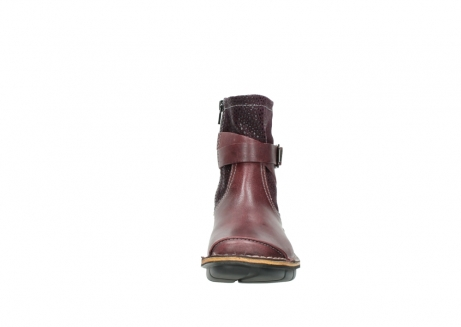 wolky ankle boots 08392 wales 50510 burgundy oiled leather_19