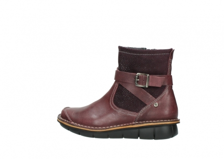 wolky ankle boots 08392 wales 50510 burgundy oiled leather_2