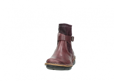 wolky ankle boots 08392 wales 50510 burgundy oiled leather_20