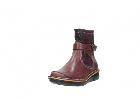wolky ankle boots 08392 wales 50510 burgundy oiled leather_21