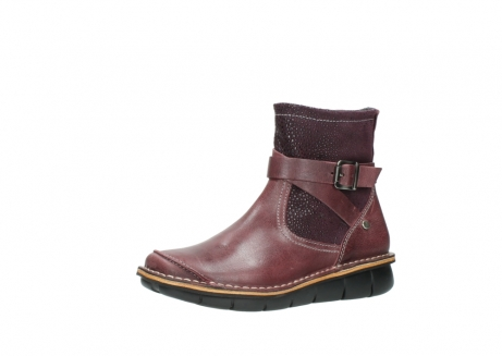 wolky ankle boots 08392 wales 50510 burgundy oiled leather_23