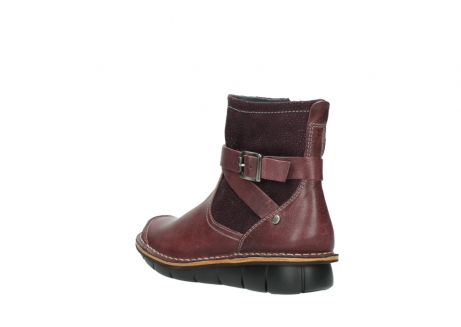 wolky ankle boots 08392 wales 50510 burgundy oiled leather_4