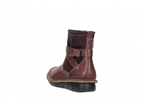 wolky ankle boots 08392 wales 50510 burgundy oiled leather_5