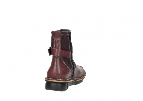 wolky ankle boots 08392 wales 50510 burgundy oiled leather_8
