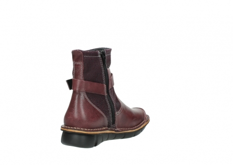 wolky ankle boots 08392 wales 50510 burgundy oiled leather_9