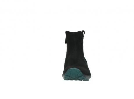 wolky enkellaarsjes 1735 zion wp 503 zwart groen geolied leer water proof vachtvoering_20