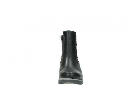 wolky enkellaarsjes 3813 basky 501 zwart geolied leer_19