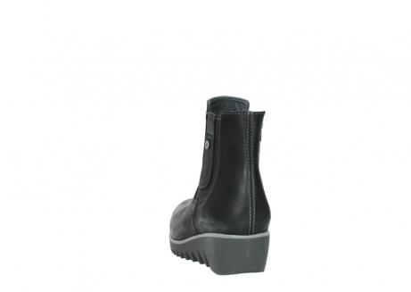 wolky enkellaarsjes 3813 basky 501 zwart geolied leer_6