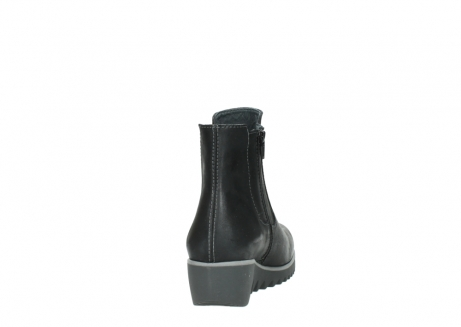 wolky enkellaarsjes 3813 basky 501 zwart geolied leer_8