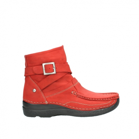 wolky stiefeletten 6293 roll point 550 rot geoltes leder