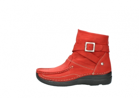wolky stiefeletten 6293 roll point 550 rot geoltes leder_1