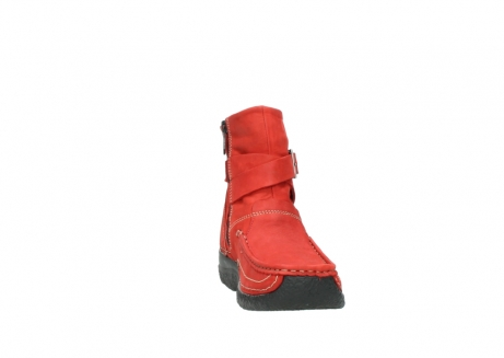 wolky stiefeletten 6293 roll point 550 rot geoltes leder_18