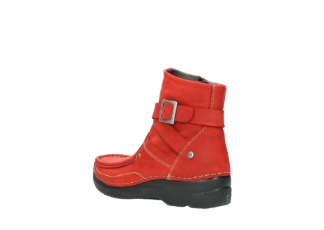 wolky stiefeletten 6293 roll point 550 rot geoltes leder_4