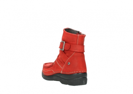 wolky stiefeletten 6293 roll point 550 rot geoltes leder_5