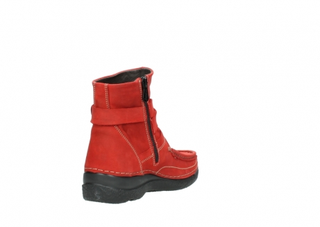 wolky stiefeletten 6293 roll point 550 rot geoltes leder_9