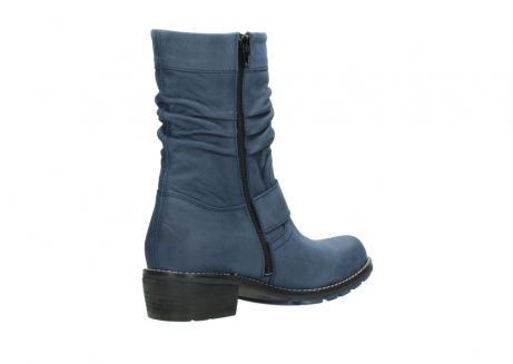 wolky mid calf boots 00526 desna 10800 dark blue oiled nubuck_10