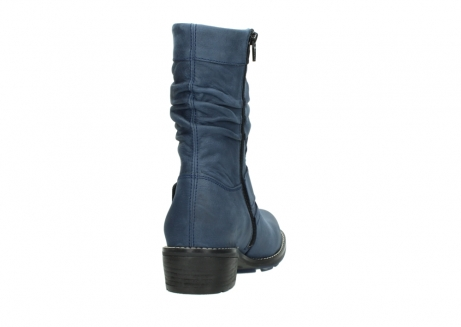 wolky mid calf boots 00526 desna 10800 dark blue oiled nubuck_8