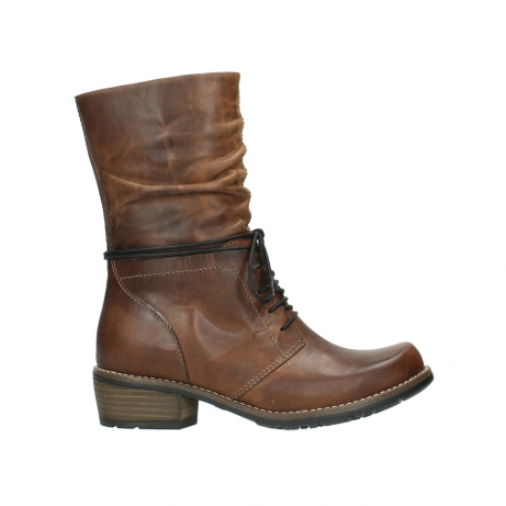wolky mid calf boots 00558 casca 80430 cognac leather