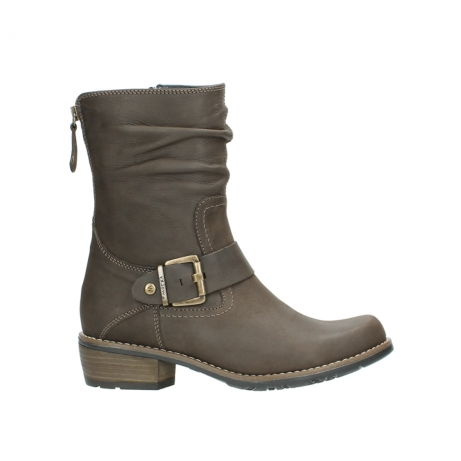 wolky mid calf boots 00572 lis 50150 taupe oiled leather