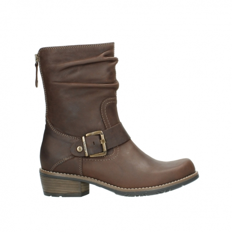 wolky mid calf boots 00572 lis 50302 brown leather