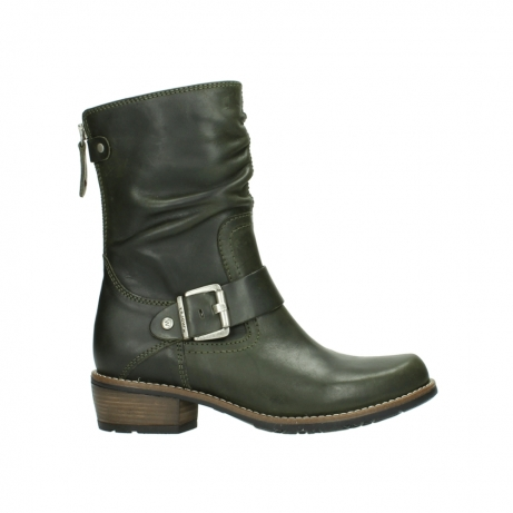 wolky mid calf boots 00572 lis 50732 forestgreen leather