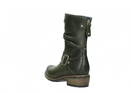 wolky mid calf boots 00572 lis 50732 forestgreen leather_5