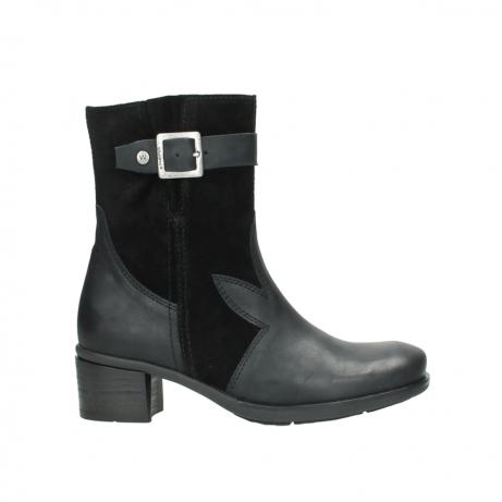 wolky mid calf boots 00934 dalton 50000 black oiled leather