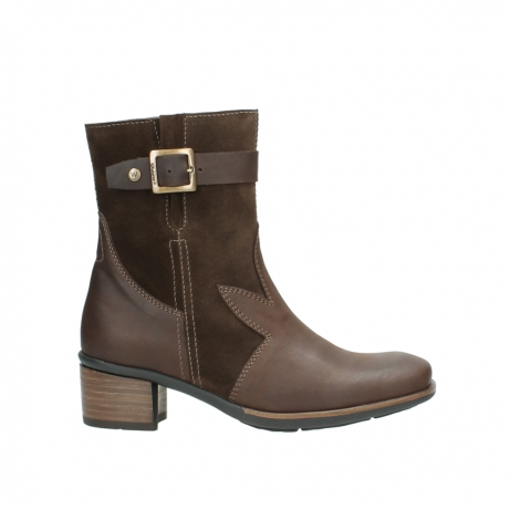 wolky mid calf boots 00934 dalton 50300 brown oiled leather